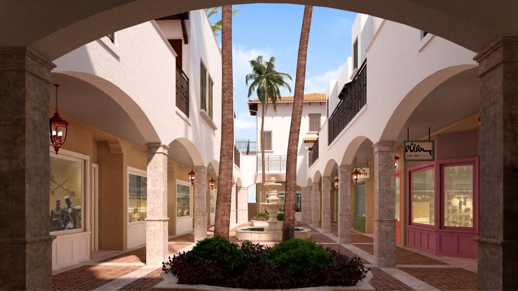 Ulrika Plaza View of Courtyard